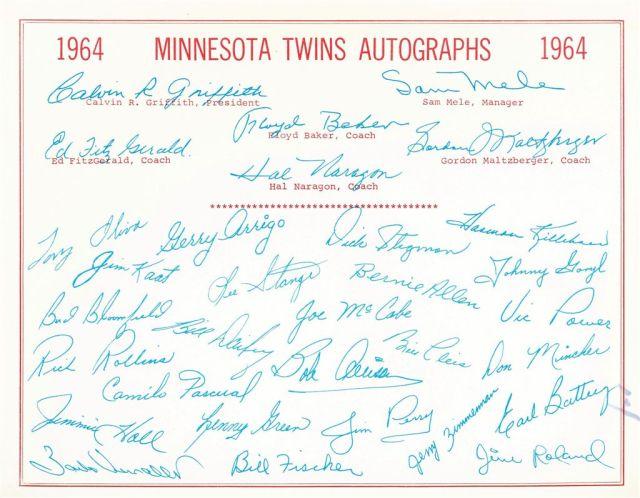 twinsautographs'64