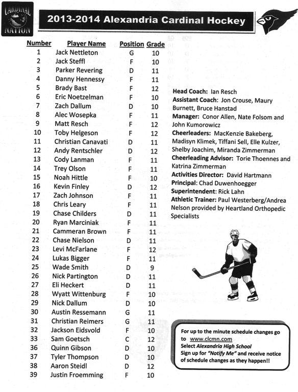 boys hockey '13-14