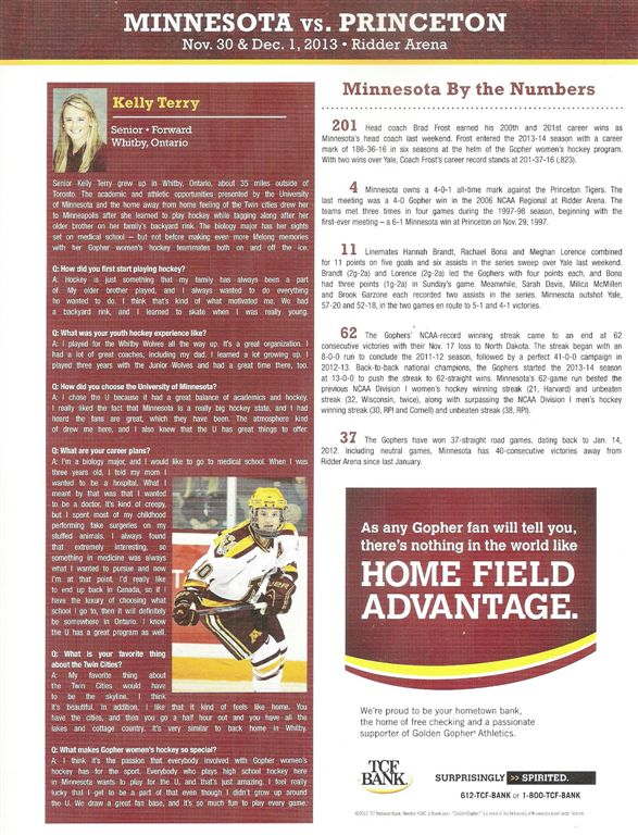 gopherwomen'shockey '13-14-3