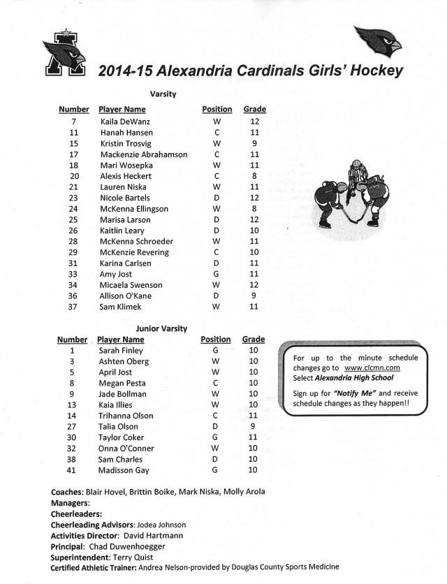 girls' hockey '14-15 - Copy