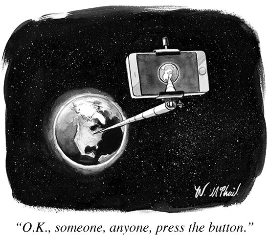 new yorker selfie cartoon